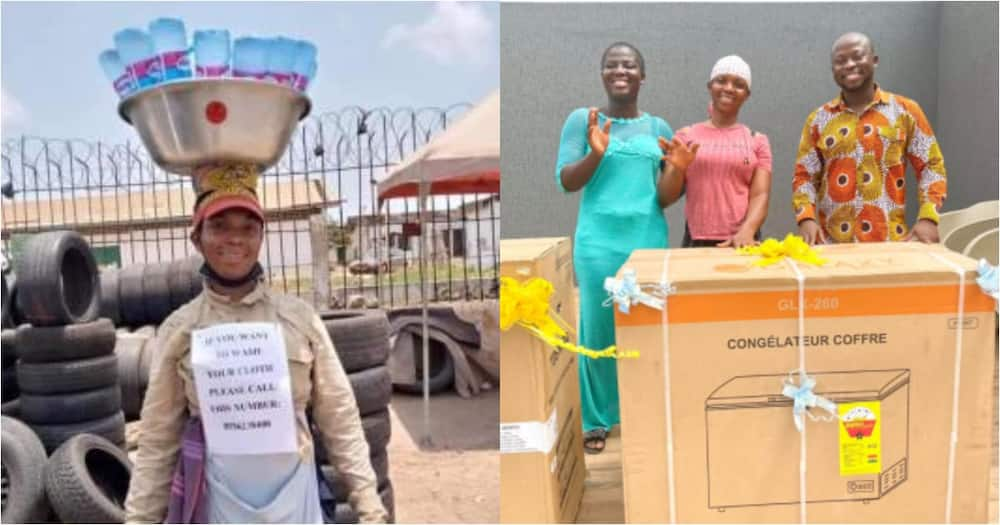 Kind heart: Businessman buys freezer & washing machine for pure water seller who went viral online