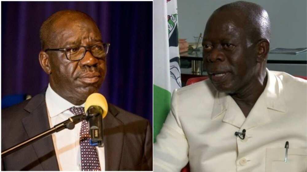 Edo election: Oshiomhole speaks on Obaseki's power of incumbency