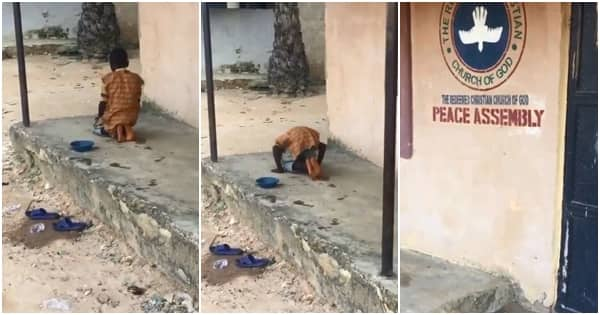 Young Muslim boy spotted praying in front of a church, Nigerians react