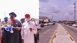 Bayelsa governor inaugurates road, school projects built by Delta state govt
