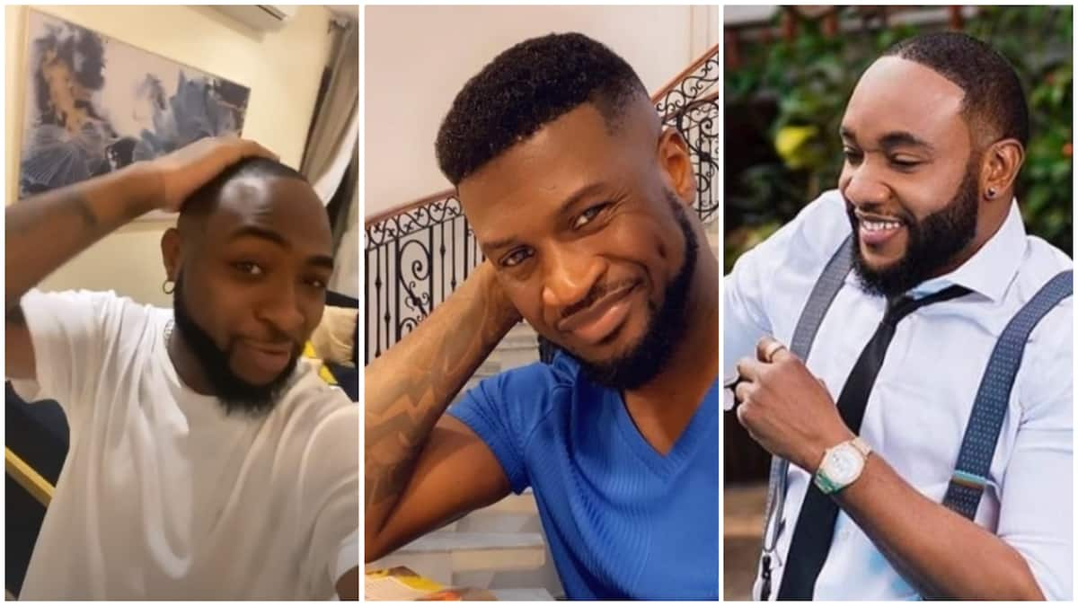 Davido apologizes to Peter Okoye, E-money, Kcee for joking about their hair