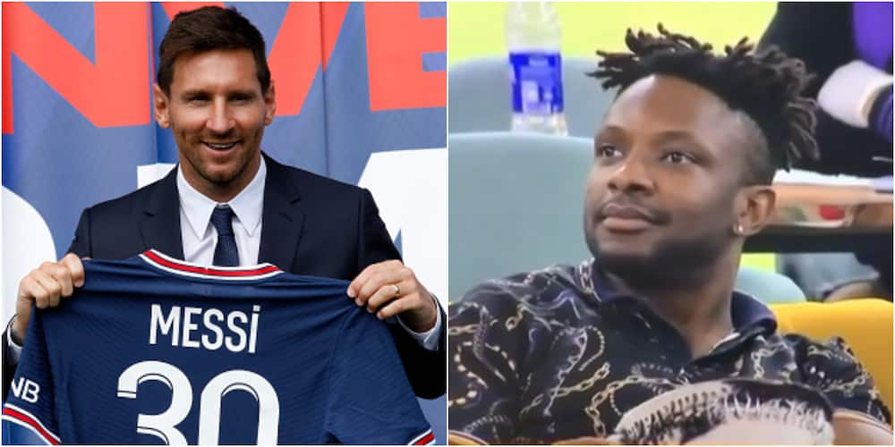 BBN housemate Cross mocked for claiming Messi will retire at Barcelona, has no clue he signed for PSG