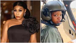 Rita Dominic replies follower who called her out for not celebrating late female pilot when she was alive
