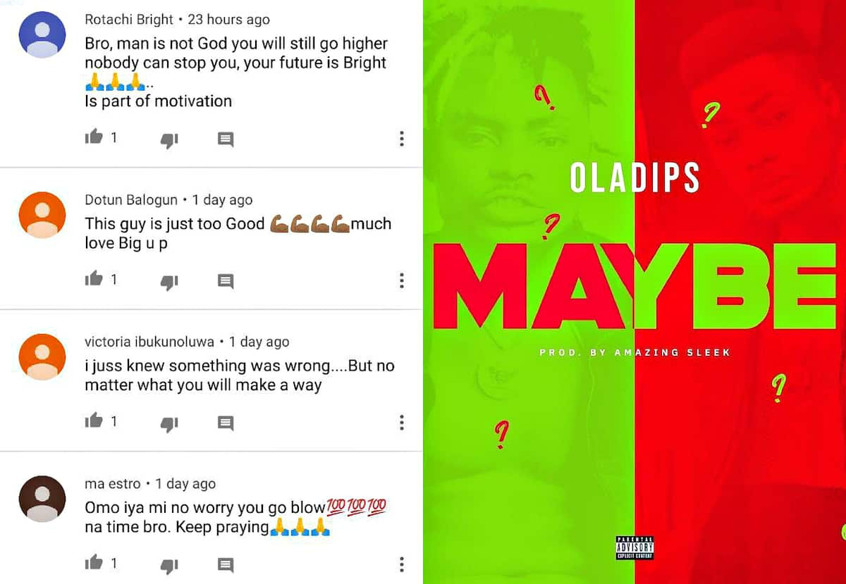 Oladips - Maybe: audio, lyrics, reactions ▷ Legit ng
