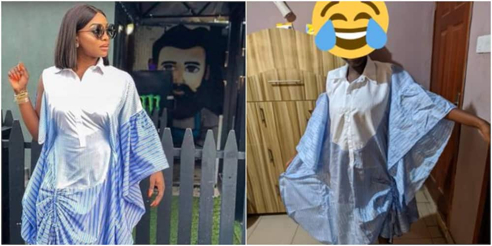 Nigerian lady shows dress her husband ordered for her and what was delivered, many react