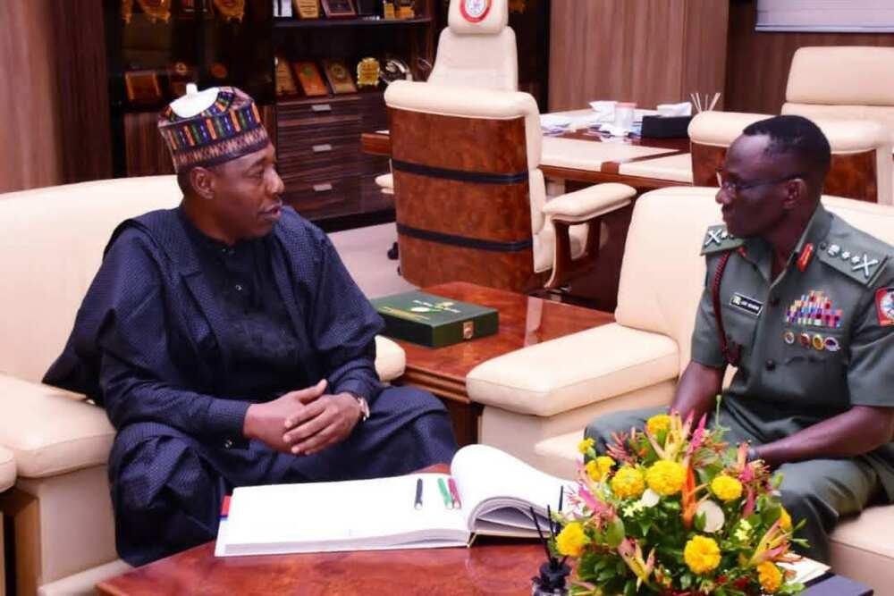 Gwamna Zulum ya gana da Janar Irabor kan tubabbun 'yan Boko Haram