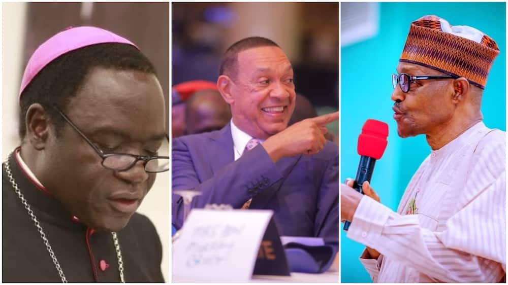 Buhari vs Kukah: Ben Bruce offers reconciliation after Arewa youths' call for cleric's arrest