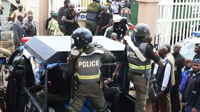 Image result for Nigerian Police Raid RCCG Camp, Evacuates Destitutes