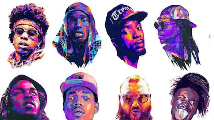 Who are top 10 rappers on the African continent?