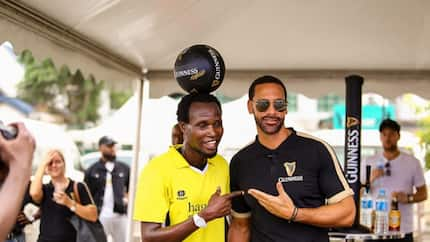 Rio Ferdinand and Guinness world record holder play football in Lagos