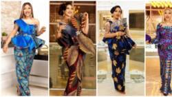 Ankara fashion: Tonto Dikeh shows off her stylish side in 13 beautiful African prints