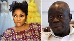 Actress Omotola calls out blog for suggesting there's something going on between her and Oshiomhole