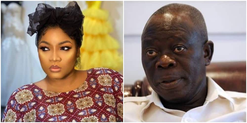 Actress Omotola lashes at blog for suggesting that there is something going on between her and Oshiomhole