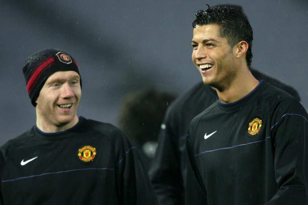 Paul Scholes and Ronaldo