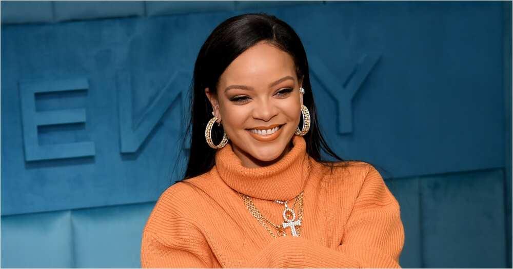 Rihanna surprises fan at a petrol station in Barbados