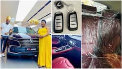 Media personality Angela gets 'tear rubber' SUV from husband as push gift, shares photos