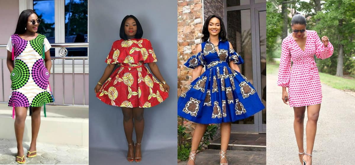Different short Ankara dresses