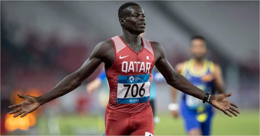 Abdalelah Haroun during the Asian Games in Indonesia - Getty Images