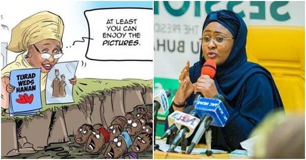 Aisha Buhari not happy over daughter's wedding cartoon — Spokesperson