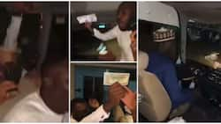 Yusuf Buhari's groomsmen stun their wedding dinner bus driver as they contribute over N500k for him in video
