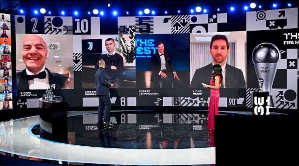 Robert Lewandowski pulls 52 votes ahead of Ronaldo's 38 to win FIFA's The Best Award