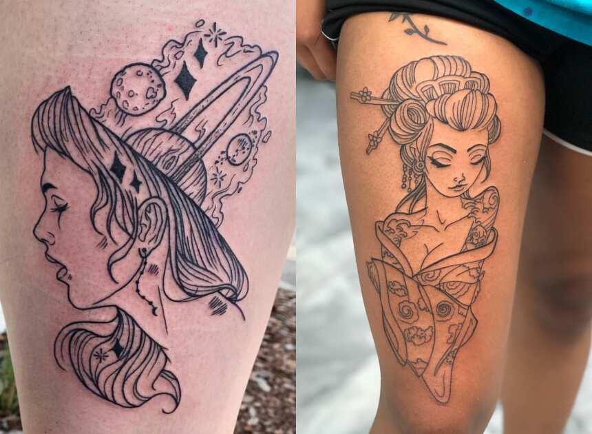 50 Thigh Tattoos Ideas For Women Legit Ng