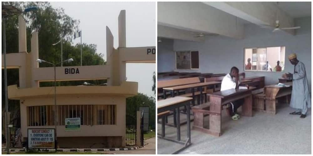 Nigerian lecturer ignores low class turnout as he teaches only one student in class, social media reacts to viral photo