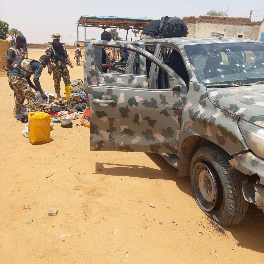 Good News As Troops Kill 21 Boko Haram Terrorists In Geidam, Recover Anti-Aircraft Gun