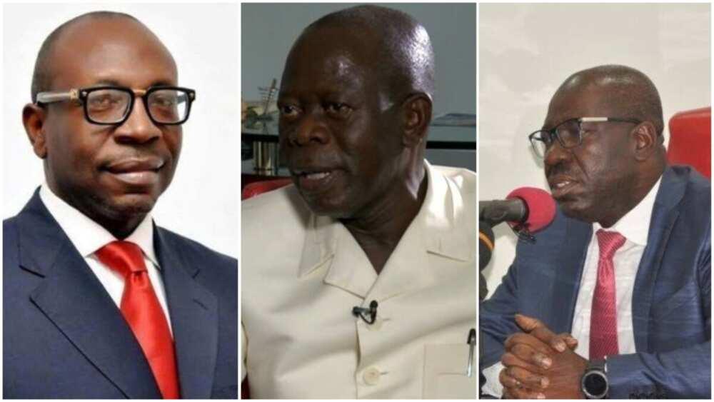 Da duminsa: Obaseki, Ize-Iyamu da Oshiomhole sun shiga ganawar gaggawa