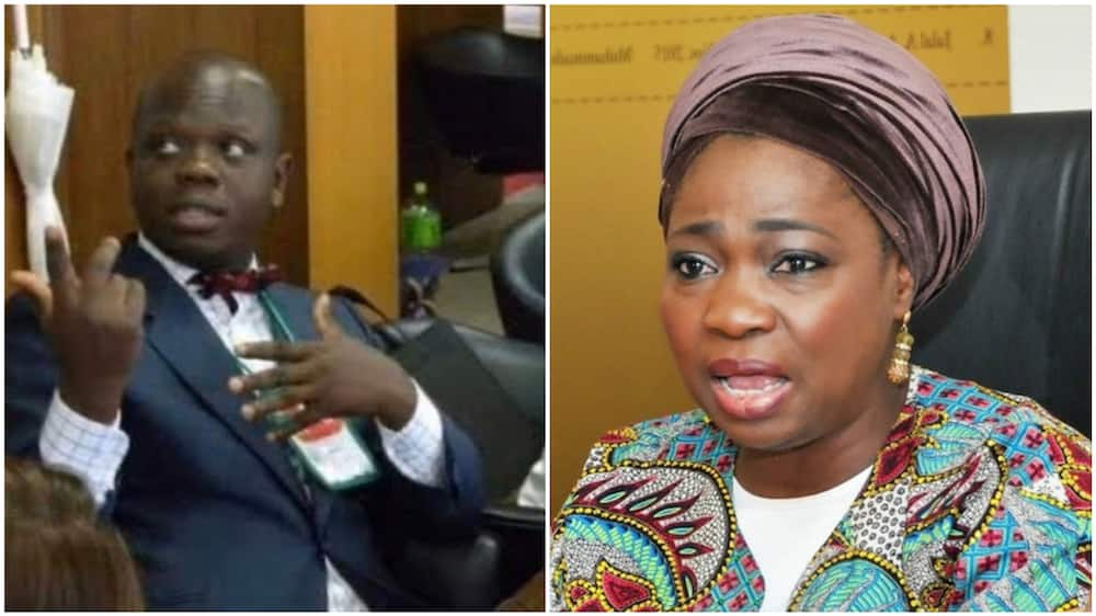 A collage showing Ikenna and NIDCOM boss, Abike Dabiri-Erewa. Photos sources: Twitter/NIDCOM/Vanguard