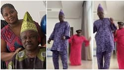 Adorable video of ex-gov Ibikunle Amosun and daughter dancing to Burna Boy's song to celebrate her 21st birthday (video)