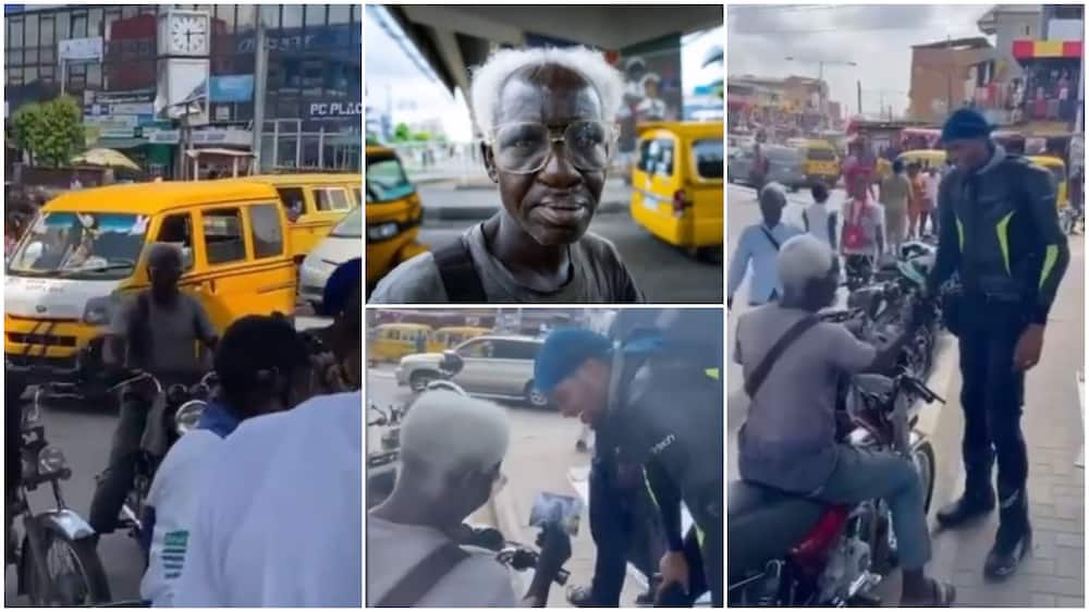 Heartwarming moment old okada man in Ikeja gets his amazing shoot delivered to him
