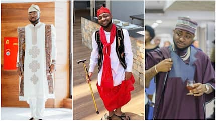 Check out 6 handsome photos of singer Davido as he steps out in traditional outfits