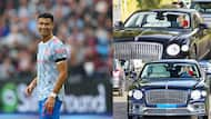 Ronaldo makes a statement, drives new N141m Bentley to Man United training with his bodyguards