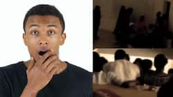Viral video of university lecturer asking his students to lie on the floor