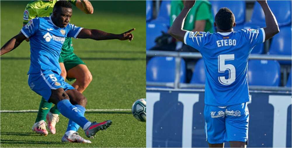 Oghenekaro Etebo scores 1st La Liga goal in Getafe's 1-1 draw with Eibar