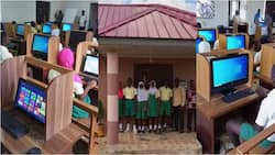 Man builds modern ICT centre for school to enable them improve in their research and learning