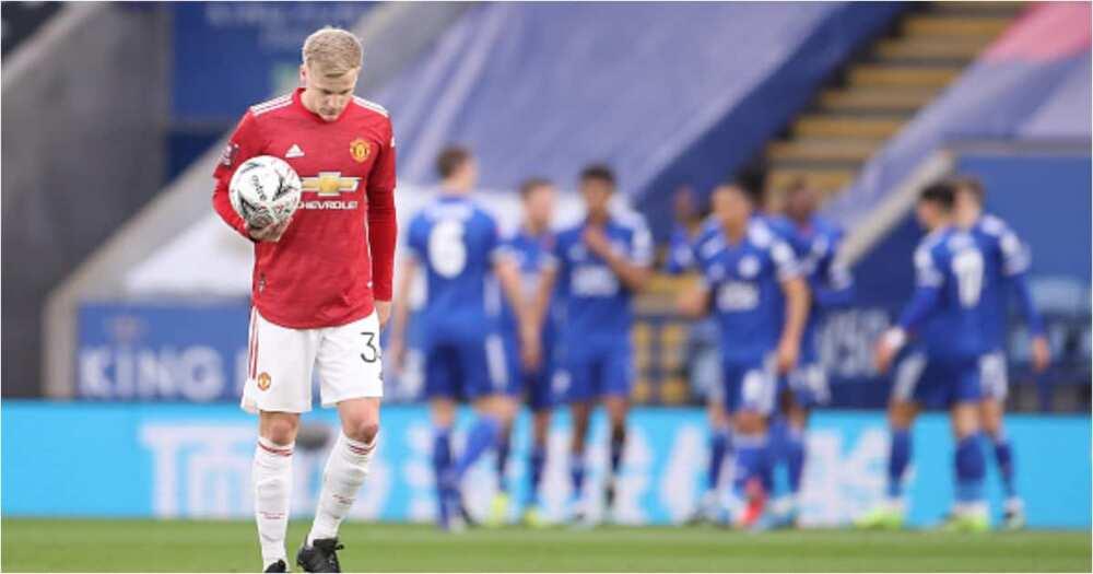 Van de Beek in action for Man United. Photo: Getty Images.