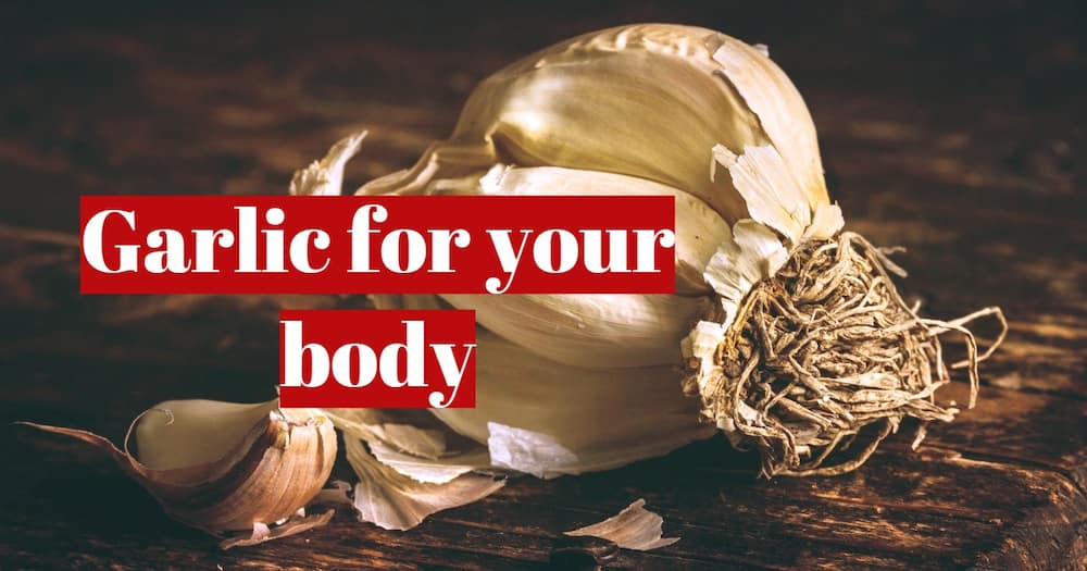 Eating a clove of garlic for our health
