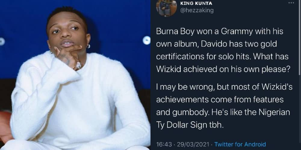 Wizkid's achievements come from 'gumbody': Critic says as he praises Davido and Burna Boy