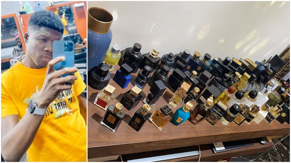 Man showcases his amazing collection of perfumes in viral photo, stirs massive reactions