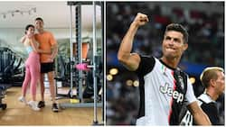 Ronaldo Shares Loved-Up Photo with Georgina as Couple Works out In Gym