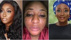 I am not trying to bleach, actress Ini Edo shares photo of her face that got discoloured due to wrong skin product (video)