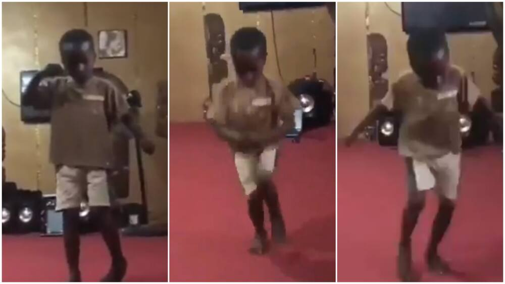 Sweet moment Kid shows off dance step to Olamide Motigbana