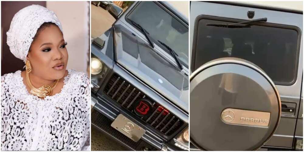 Actress Toyin Abraham splurges millions on Mercedes Benz Brabus