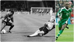 Super Eagles legend Okocha reveals what his coach said after scoring that goal against Khan exactly 28 years ago