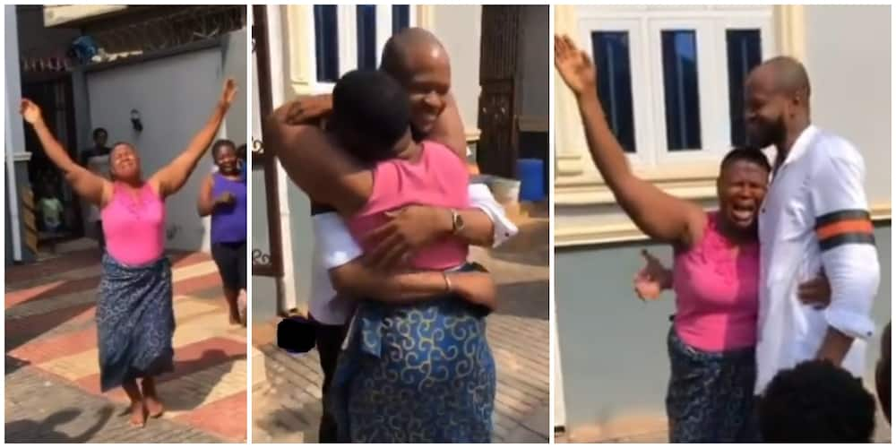 Beautiful moment man visited him mum after 13 years of living abroad