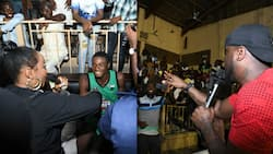 Nigerian basketball legend shed tears as thousands of fans storm Kano stadium to watch Yemi Alade, Peter Okoye, others (photos)