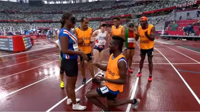 Touching moment a visually-impaired athlete at ongoing Paralympics received an engagement ring shortly after her race
