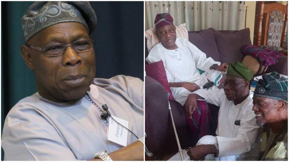 Gurfanar Obasanjo a gaban tsoho mai shekaru 94 ya janyo cece-kuce